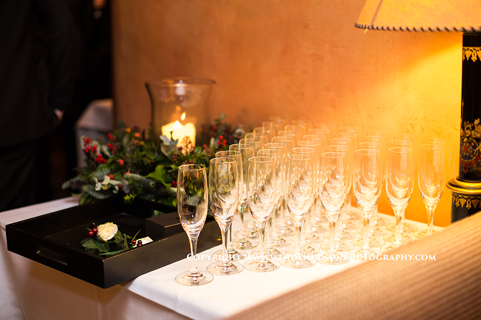 Champagne reception at Bailiffscourt hotel